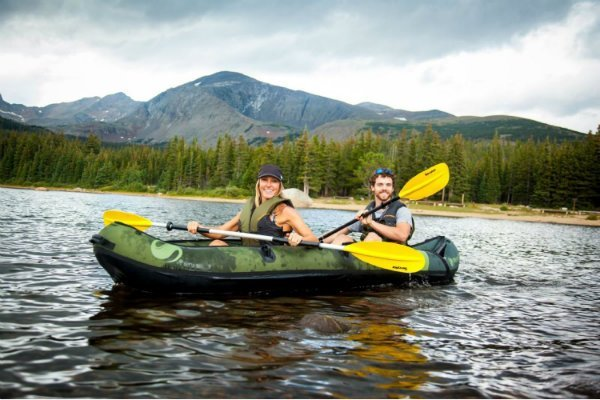 sit in inflatable fishing kayak