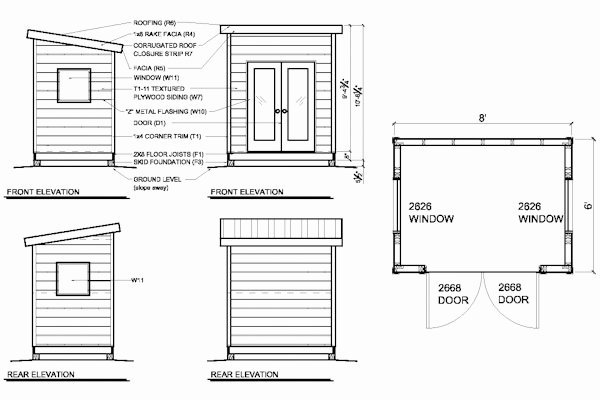 Ice Fishing Shanty Floor Plans